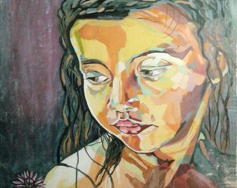 Oil Painting Portrait of a girl