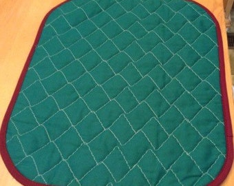 Set of 4 hand quilted placemats
