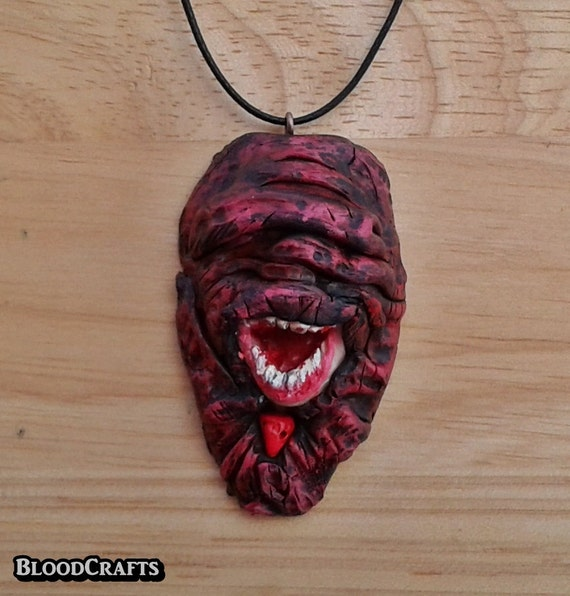 Evil Deformed Cultist Dagon Cthulhu esoteric order Lovecraft handmade pendant Mythos charm necklace