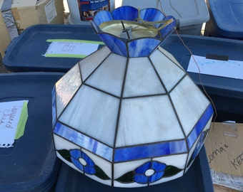 Stained Glass Chandelier Lamp