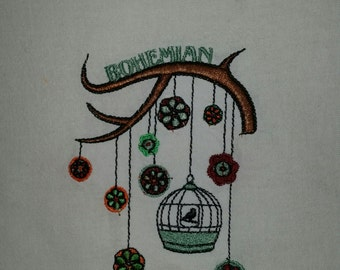Kitchen Towel, Birdcage, Bohemian