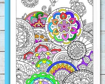 Printable Mandala Design 2 Coloring Page