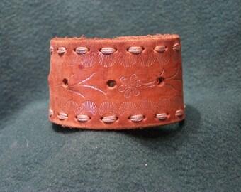 Decorated Leather Cuff Bracelet