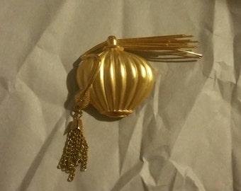 Vintage Gold Perfume Bottle Brooch