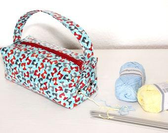 Wool dispenser wool holder skein holder wool bag handmade knitwear and crochet bag
