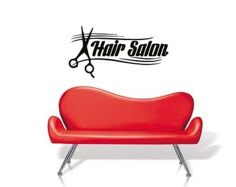 Hair salon vinyl Wall Art sticker decal graphics decor home