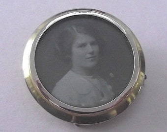 Antique Victorian 9ct Gold Photo/Mourning Brooch/Locket - 1900
