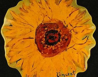 Vintage Collectable JOHN BESWICK Van Gogh SUNFLOWER Trinket Dish