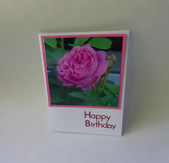 Birthday Card with Pink Rose - #1783