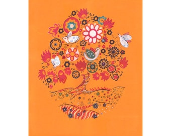 Blossoming tree art poster