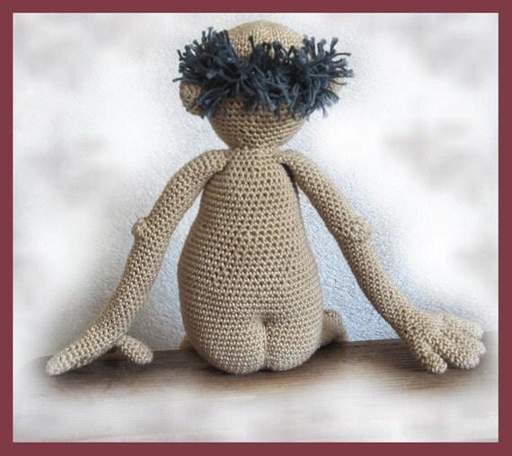 Dirty old man Gramps amigurumi doll crochet pattern