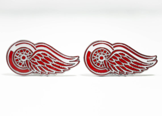 Detroit Red Wings Cuff Links -- FREE SHIPPING with USPS First Class Domestic Mail