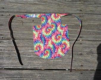 Vibrant Tie Dye Duct Tape Hen Saddle