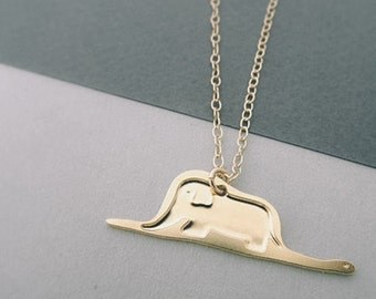 Necklace inspired by the little Prince//digesting Boa eating the elephant//Petit Prince