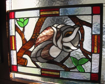 Mr Owl in Stained Glass