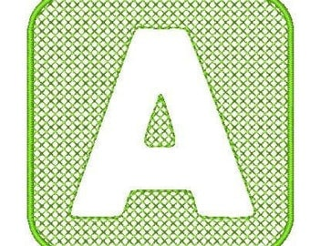 Embossed Alphabet  ( 26 Machine Embroidery Designs from ATW )