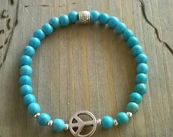 Bracelet turquoise ⭐ ⭐ peace