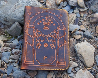leather kindle case, the gate of moria, lord of the rings