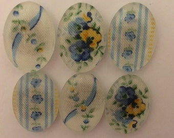 Set of Six Very Pretty Floral Magnets