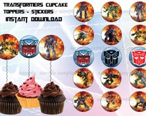 Transformers cupcakes toppers, transformers invitation, Transformers  party,  Transformers . Transformers  invite, Kids invitation Printable