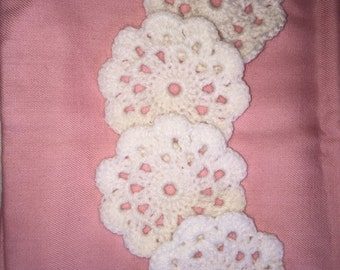 Crocheted coasters