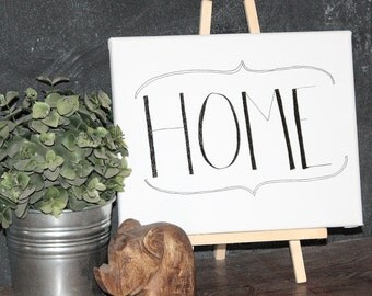 """Hand Scripted """"HOME"""" Wall Decor"""
