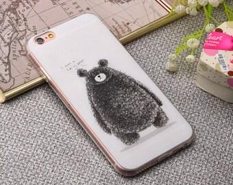 A black bear iPhone 6 case,Black iPhone 6 case,iPhone 6s case, iPhone 6Plus, iPhone 6 case,Colored Drawing phone case, iPhone case