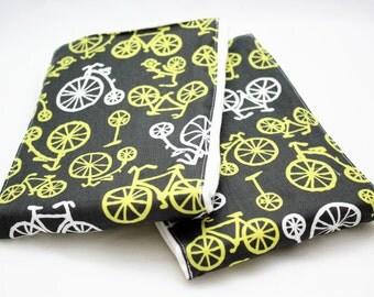Bicycle RIDE Baby Burp Cloths - Set of 2 - Modern Bike Print