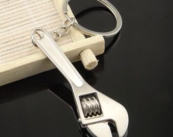 Wrench Keychain, Wrench Keyring, Chrome keychain keyfob,  Hot Wheels, car accessories, motorsport, car keychain, keyfob, gifts for him