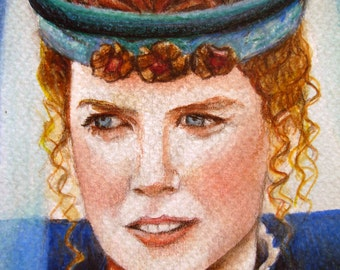 "Nicole Kidman portrait from the film ""Far and Away"""