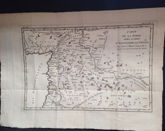 Map of Syria after the death of Alexandre Le Grand