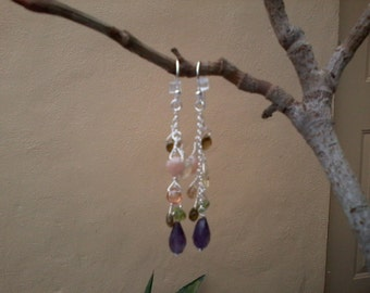 Amethyst and Rainbows- Gemstones and sterling