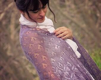 Shawl: lilac lace