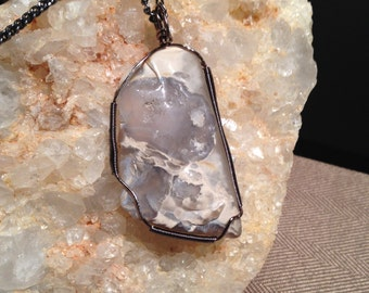 West Texas Thunderstorm Agate Pendant