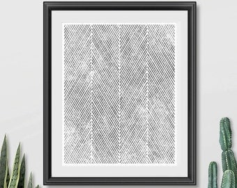 Printable Abstract Art, Minimalist Art Print, Herringbone Decor, Minimalist Decor, Black and White Art, Modern Artwork, Minimalist Wall Art