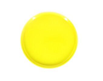 Vintage Heller Plates -- Yellow -- Stackable Melamine Plasticware -- Mid Century Modern Plates -- Massimo Vignelli -- 3 Available