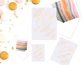 The Nikki Suite - Printable Wedding Invitation Set