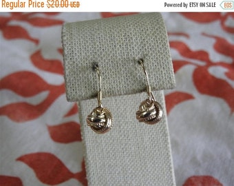 labor day sale stunning vintage gold plated sterling silver love knot drop earrings