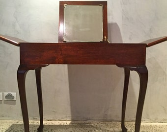 Elegant Antique Wooden Lady's Dresser with mirror