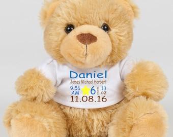 Personalised Milestone Teddy Bear - Newborn Gift - Birthday Gift - Milestone Teddy