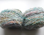 Pastel yarn, pastel boucle yarn, mint boucle yarn, mint yarn, cheap yarn, yarn lot, wool yarn, knitting yarn, crochet yarn, multicolour yarn