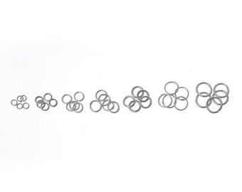 1 Box Mixed Open Jump Rings 3mm-8mm(1500 PCs Assorted)