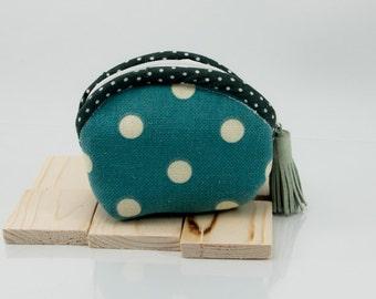 Fabric Coin Purse handmade zipper Coin Purse