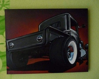 The hauler ford pickup hotrod automotive art
