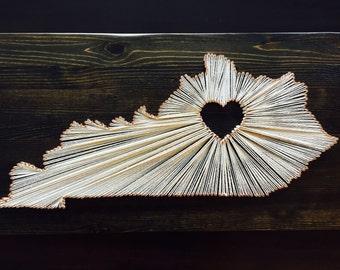 Kentucky Custom String Art, Kentucky State Custom Art