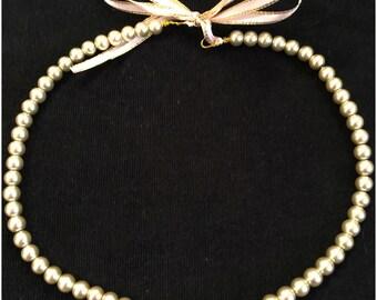 Champagne pearl bridal headband