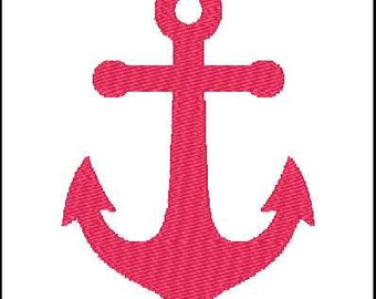 Fill Embroidery Design, Anchor, Sailing, Nautical, File, Digital, Download, Machine