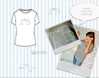 "t-shirt children ""2ndeB"" (classroom number)"