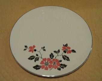 Vintage Hall Poppy Cake Plate