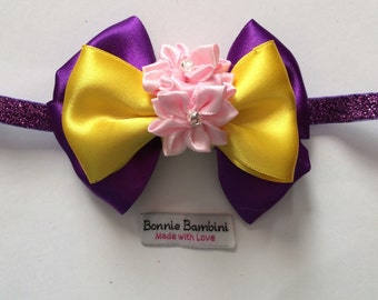 Rapunzel Glitter Headband (Size for Babies to Adults) Inspired by Disney